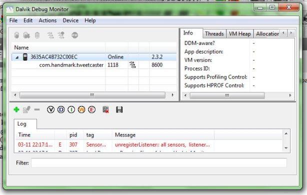 Android Screen Capture menggunakan Dalvik Debug Monitor Another 144key